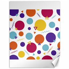 Background Polka Dot Canvas 36  x 48