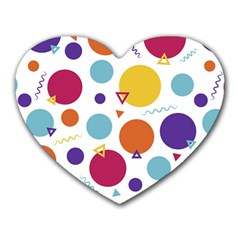Background Polka Dot Heart Mousepads