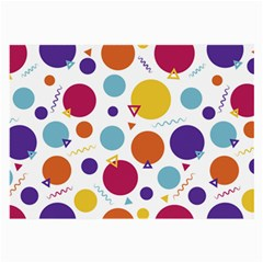Background Polka Dot Large Glasses Cloth (2 Sides)