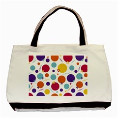 Background Polka Dot Basic Tote Bag (Two Sides)