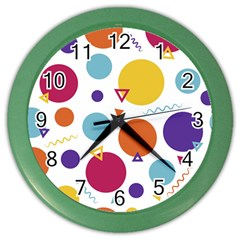 Background Polka Dot Color Wall Clock