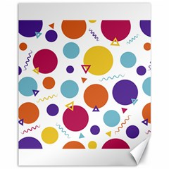 Background Polka Dot Canvas 11  x 14