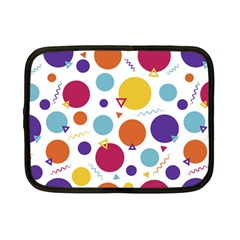Background Polka Dot Netbook Case (Small)