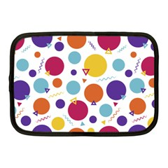 Background Polka Dot Netbook Case (Medium)
