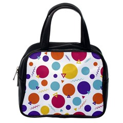 Background Polka Dot Classic Handbag (One Side)