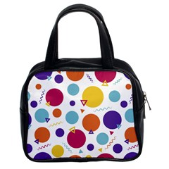 Background Polka Dot Classic Handbag (Two Sides)