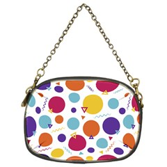 Background Polka Dot Chain Purse (Two Sides)