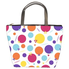 Background Polka Dot Bucket Bag