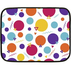 Background Polka Dot Double Sided Fleece Blanket (Mini)