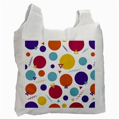 Background Polka Dot Recycle Bag (One Side)