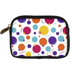 Background Polka Dot Digital Camera Leather Case
