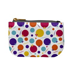 Background Polka Dot Mini Coin Purse