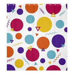 Background Polka Dot Shower Curtain 66  x 72  (Large)