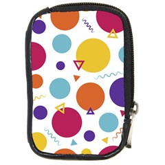Background Polka Dot Compact Camera Leather Case