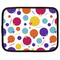Background Polka Dot Netbook Case (XL)