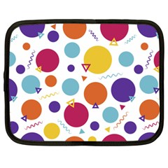 Background Polka Dot Netbook Case (XXL)