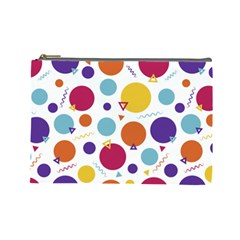 Background Polka Dot Cosmetic Bag (Large)