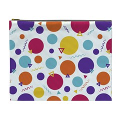 Background Polka Dot Cosmetic Bag (XL)
