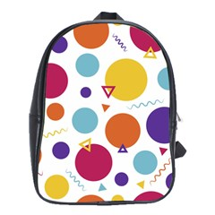 Background Polka Dot School Bag (Large)