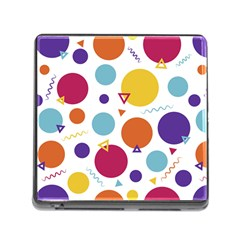 Background Polka Dot Memory Card Reader (Square 5 Slot)