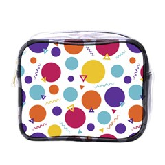 Background Polka Dot Mini Toiletries Bag (One Side)
