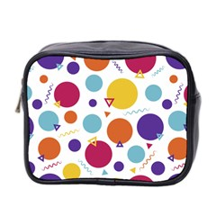 Background Polka Dot Mini Toiletries Bag (Two Sides)