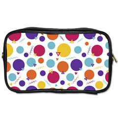 Background Polka Dot Toiletries Bag (One Side)
