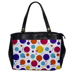 Background Polka Dot Oversize Office Handbag