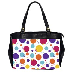 Background Polka Dot Oversize Office Handbag (2 Sides)