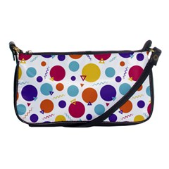 Background Polka Dot Shoulder Clutch Bag