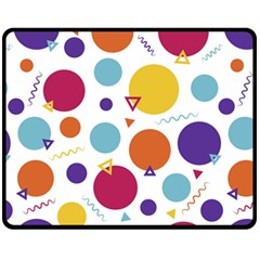 Background Polka Dot Fleece Blanket (Medium)