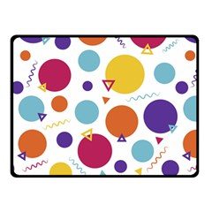 Background Polka Dot Fleece Blanket (Small)