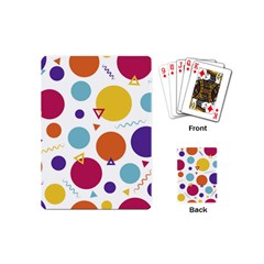 Background Polka Dot Playing Cards (Mini)