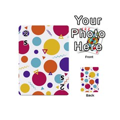 Background Polka Dot Playing Cards Double Sided (Mini)