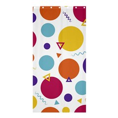 Background Polka Dot Shower Curtain 36  x 72  (Stall)