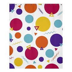 Background Polka Dot Shower Curtain 60  x 72  (Medium)