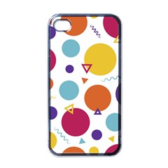 Background Polka Dot iPhone 4 Case (Black)