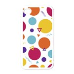 Background Polka Dot iPhone 4 Case (White) Front