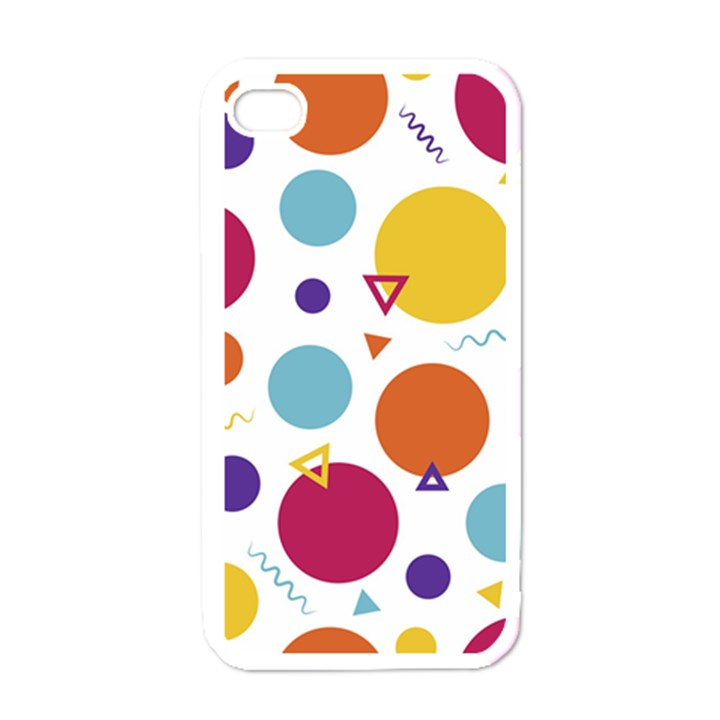 Background Polka Dot iPhone 4 Case (White)