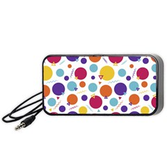 Background Polka Dot Portable Speaker