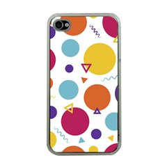 Background Polka Dot iPhone 4 Case (Clear)