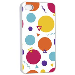 Background Polka Dot iPhone 4/4s Seamless Case (White)