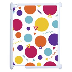 Background Polka Dot Apple iPad 2 Case (White)