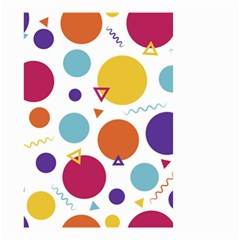 Background Polka Dot Small Garden Flag (Two Sides)