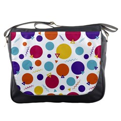 Background Polka Dot Messenger Bag