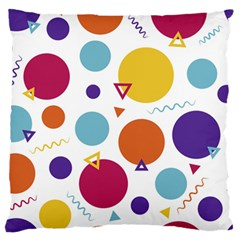Background Polka Dot Large Cushion Case (One Side)