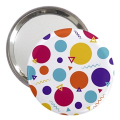 Background Polka Dot 3  Handbag Mirrors