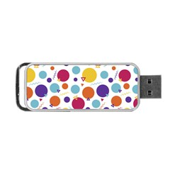 Background Polka Dot Portable USB Flash (Two Sides)