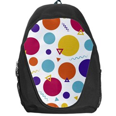 Background Polka Dot Backpack Bag