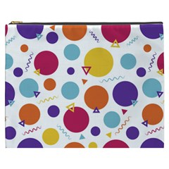 Background Polka Dot Cosmetic Bag (XXXL)